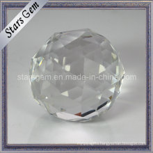 Purity Transparency Round Facets Cut Glass Ball